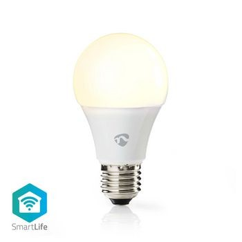 Bec LED Smart WiFi, E27, 800 lm, 9W, 2700 K, Nedis