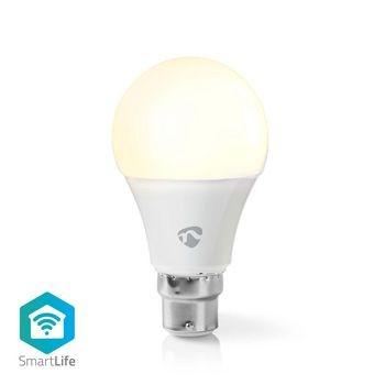 Bec LED Smart WiFi Nedis, B22, 800 lm, alb cald, 2700K