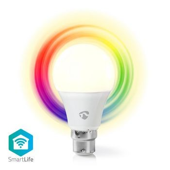 Bec LED Smart WiFi RGB - lumina alba calda, B22, Nedis