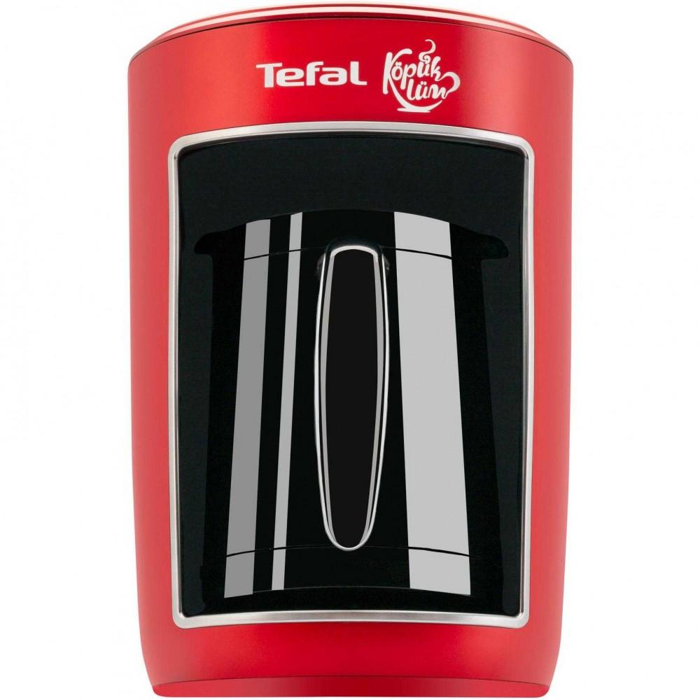 Cafetiera turceasca Tefal CM820534, 4 cesti, Negru/Rosu