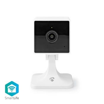 Camera IP Smart Wi-Fi Nedis, Full HD, Cloud   microSD, vedere nocturna, alb