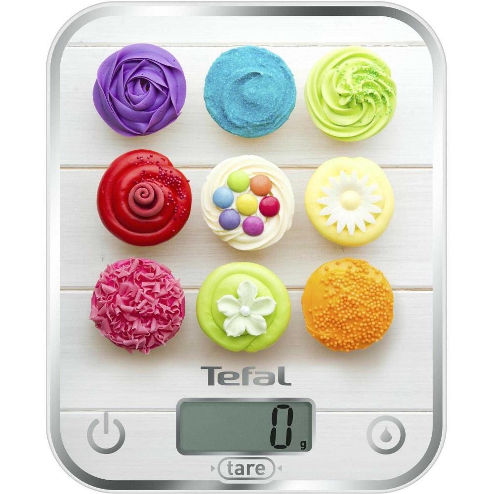 Cantar electronic de bucatarie Tefal Optiss Decor BC5122V1, 5 kg, Multicolor