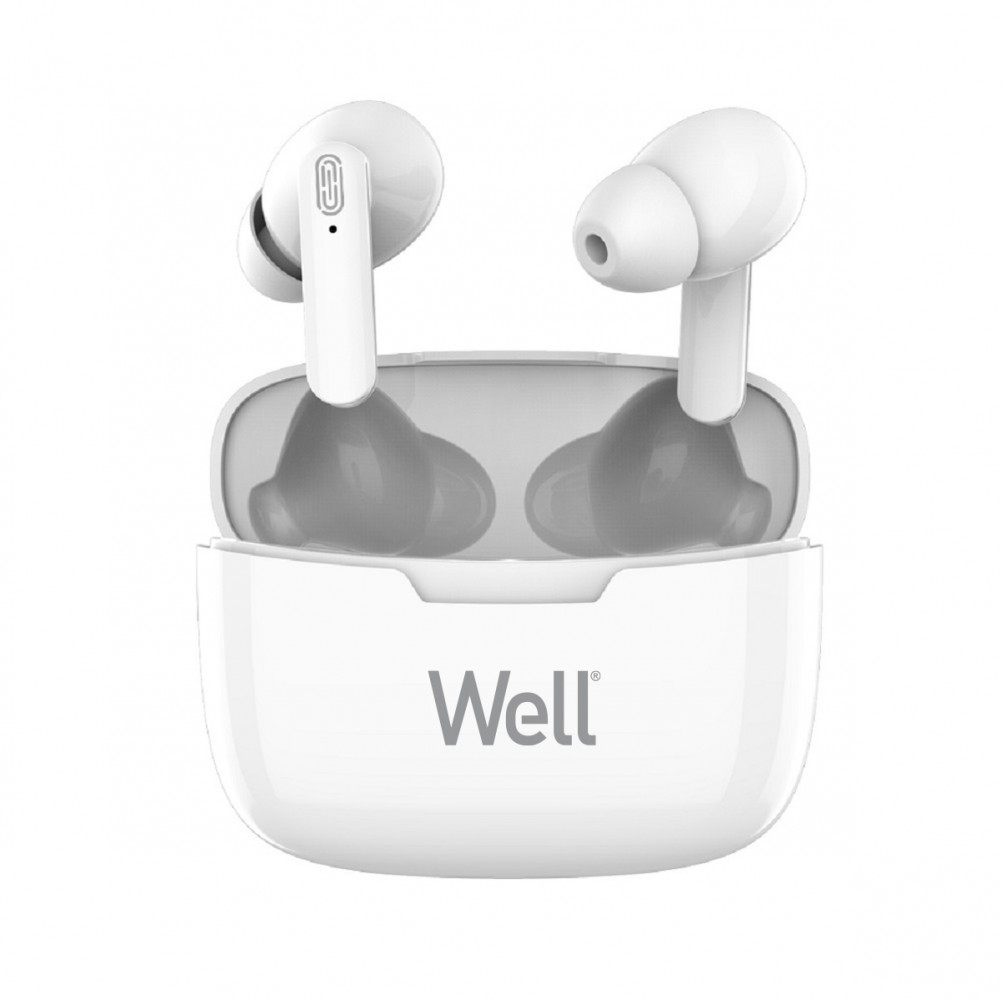Casti Bluetooth TWS in-ear Well Boost alb
