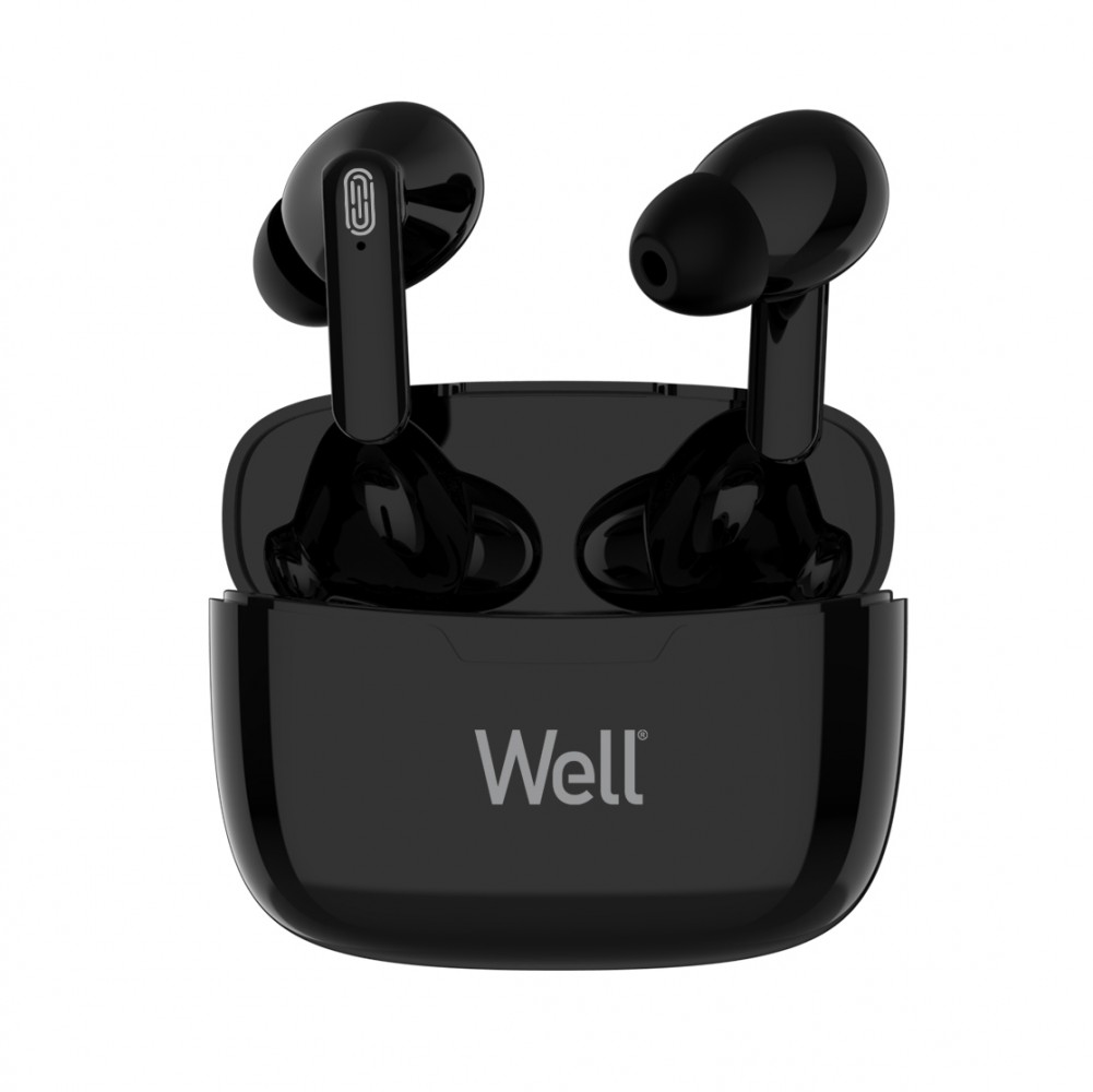 Casti Bluetooth TWS in-ear Well Boost negru