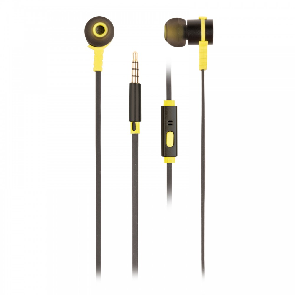 Casti In-Ear cu fir, Cross Rally Black negru verde, NGS