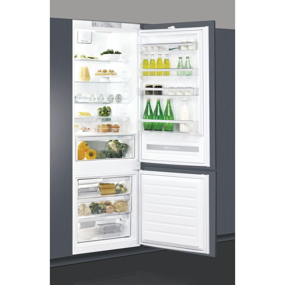 Combina frigorifica incorporabila Whirlpool SP40 801 EU, Stop Frost, 400 l, Clasa A+
