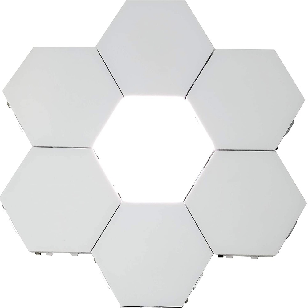 Corp LED hexagonal Well Crystal, magnetic, 4000K, set 6 bucati, cu adaptor