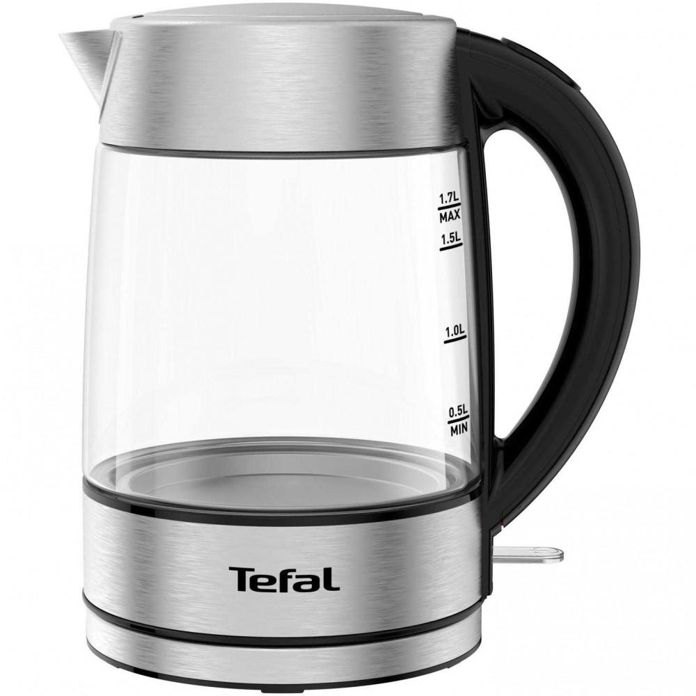 Fierbator Tefal Glass KI772D38, 2200 W, 1.7 l, Argintiu/Negru