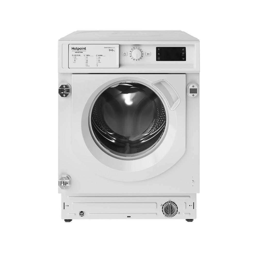 Masina de spalat rufe cu uscator incorporabila Hotpoint BI WDHG 961484 EU, 1400 RPM, 9 kg spalare, 6 kg uscare, Clasa A