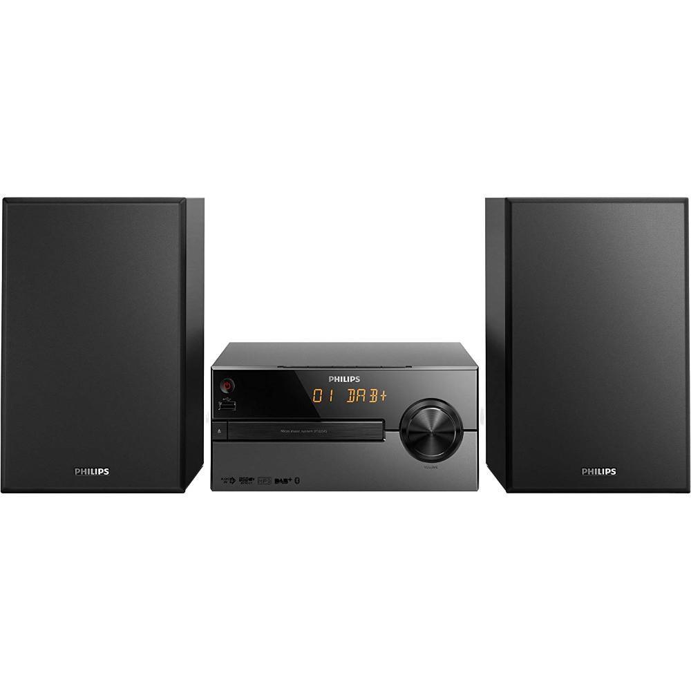 Microsistem audio Philips BTB2515/12, CD, MP3, FM, DAB+, USB, Bluetooth, 15W, Negru