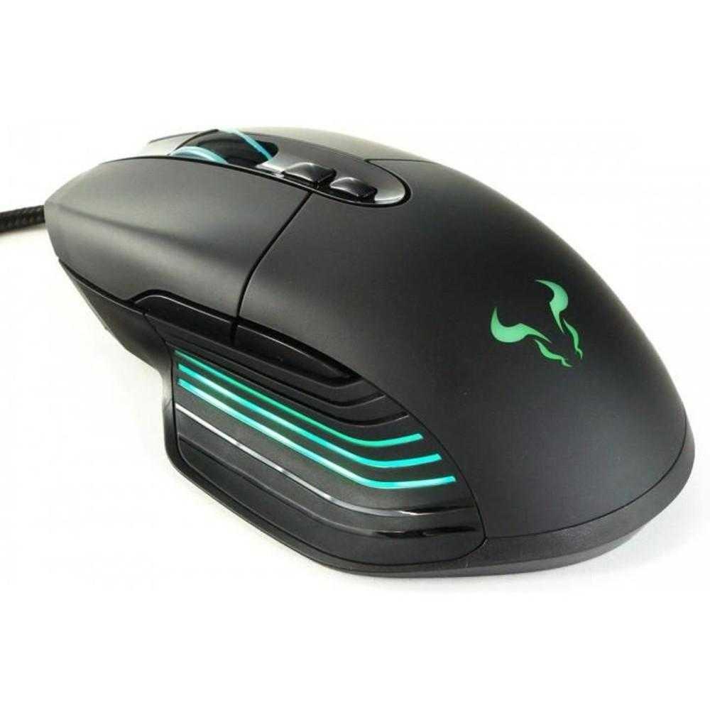 Mouse gaming Riotoro Nadix, Iluminare RGB, Negru
