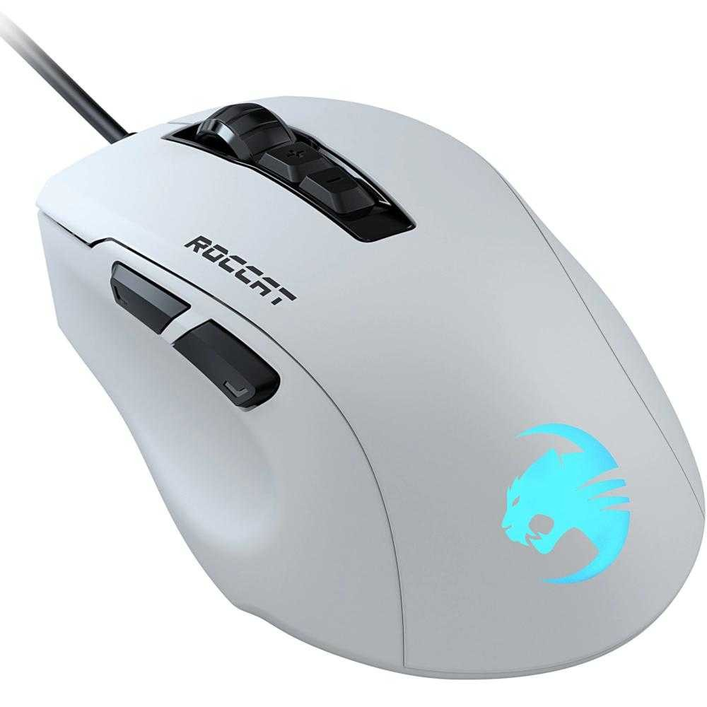Mouse gaming Roccat Kone Pure Ultra, RGB, Alb
