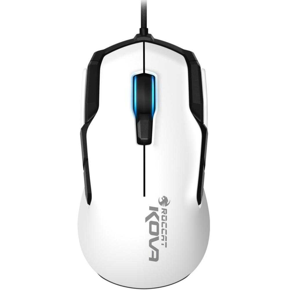 Mouse gaming Roccat Kova AIMO, RGB, Alb