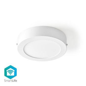 Plafoniera rotunda Smart Wi-Fi Nedis, 17 cm, 800 lm, 12W, 2700 - 6500K