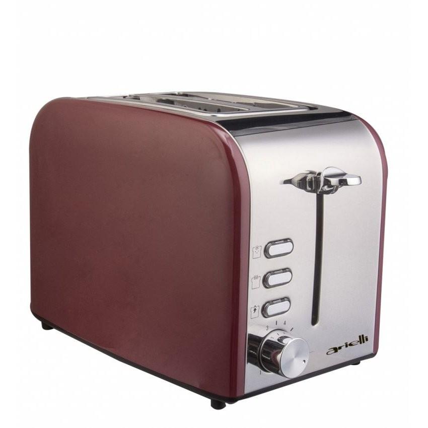Prajitor de paine AET-1718BS 2 felii 800W Rosu