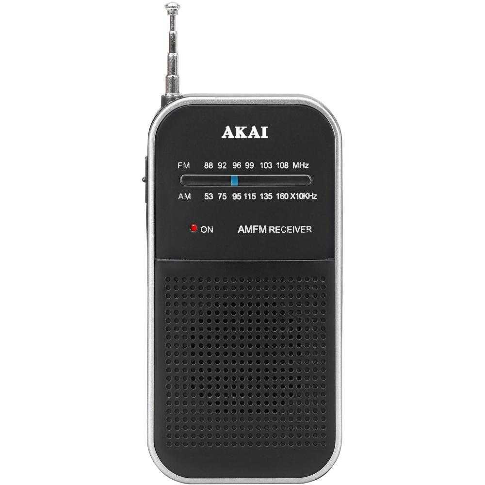 Radio portabil Akai APR-350, AM/FM, Negru