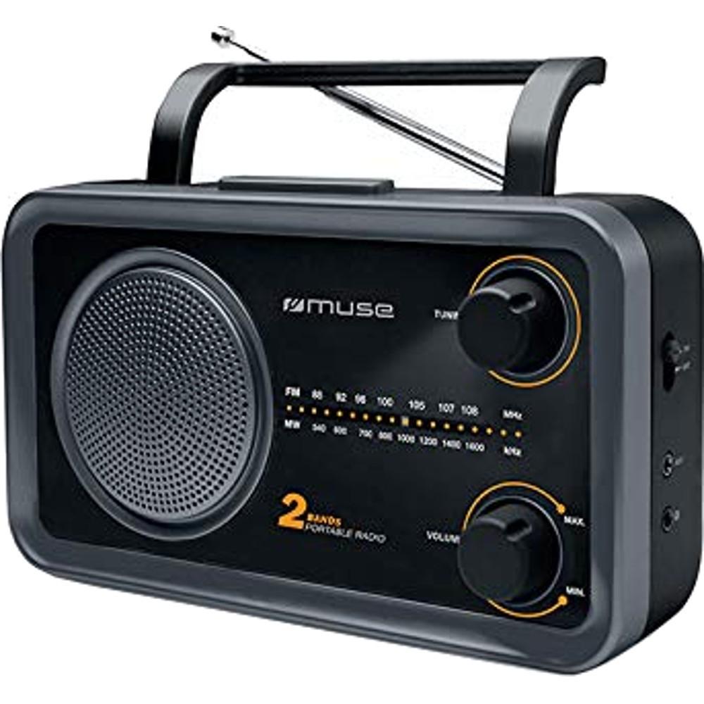Radio portabil Muse M-06 DS, FM/MW, AUX in, Iesire Jack 3.5 mm, Negru