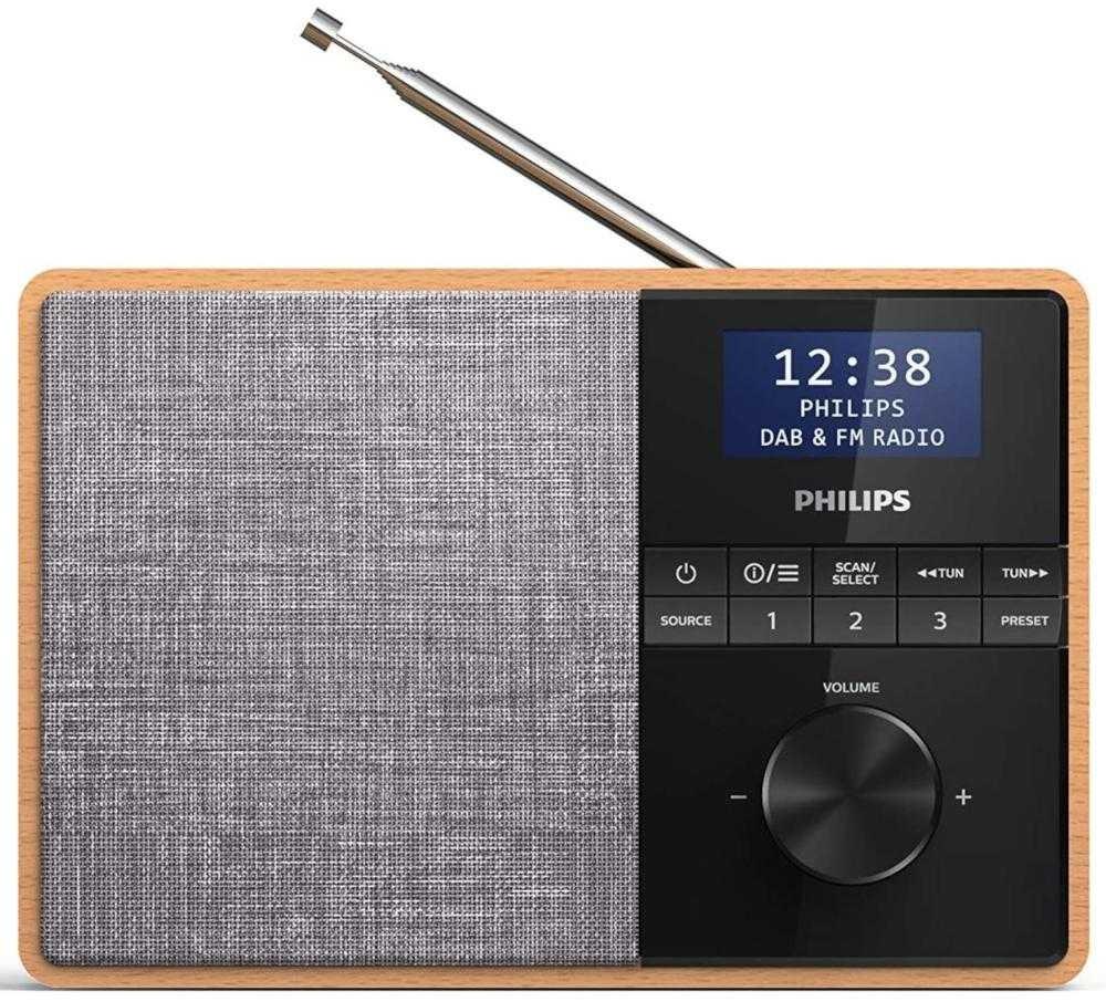 Radio portabil Philips TAR5505/10, DAB+, FM, Maro