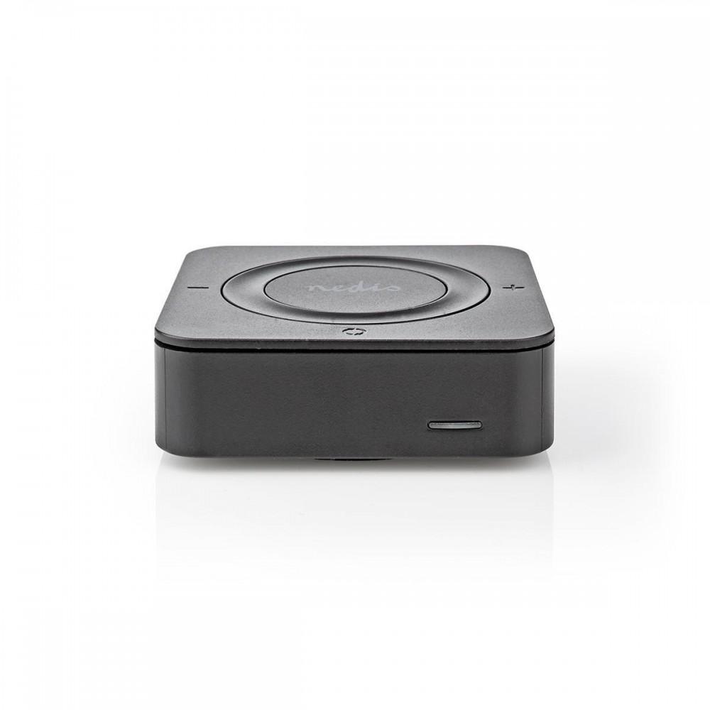 Receptor si transmitator audio wireless Nedis, Bluetooth, Toslink, negru