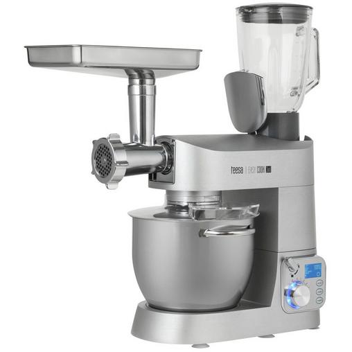 Robot de bucatarie EasyCook 1200W Castron 6 litri Blender 1.5 litri Argintiu