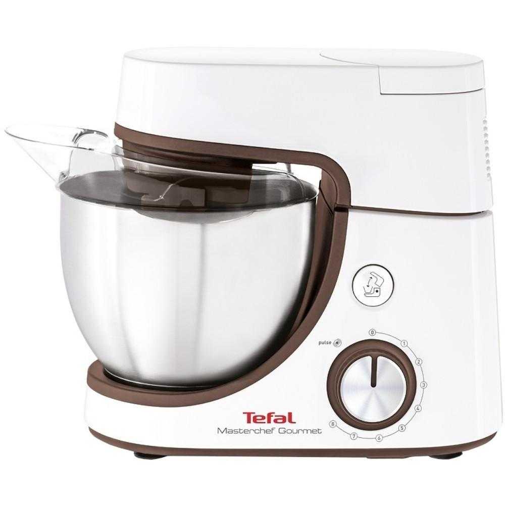 Robot de bucatarie Tefal MasterChef Gourmet Baking with Kids QB51K138, 1100 W, 8 viteze + Pulse, bol 4.6 l, Alb