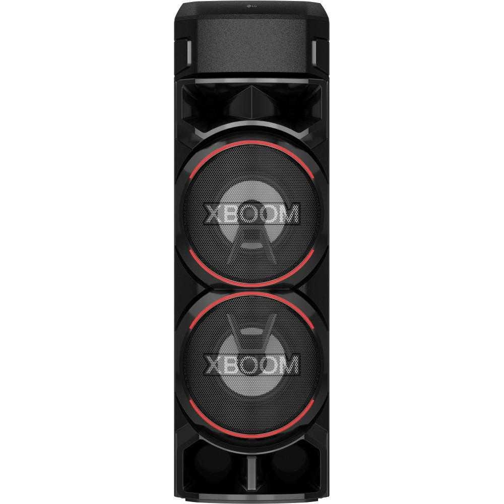 Sistem audio LG XBOOM RN9, Bluetooth, Efecte DJ, Karaoke Creator, Party Lighting, Super Bass Boost, Negru