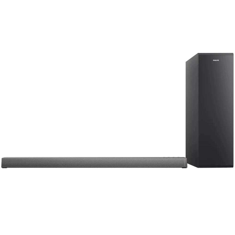 Soundbar Philips TAB6305/10, 2.1, 140W, Subwoofer Wireless, Dolby Audio, Negru