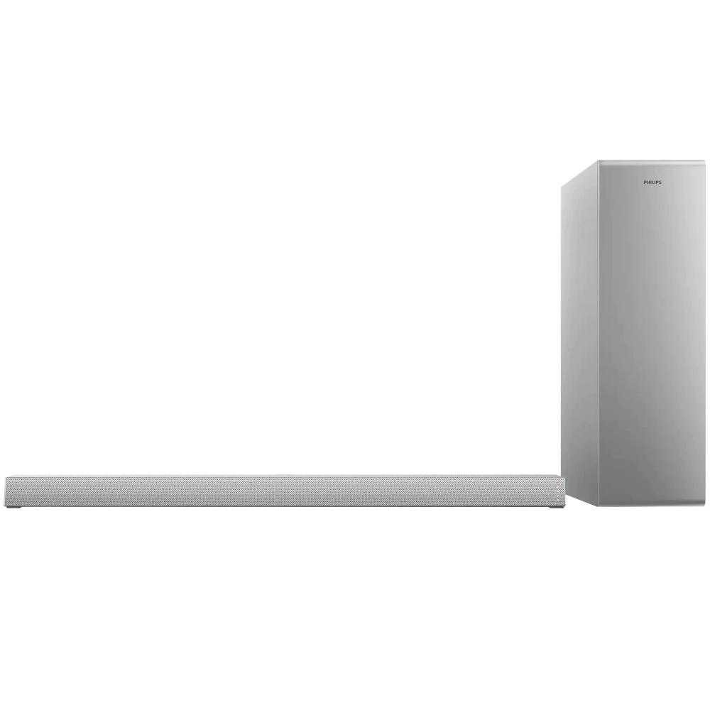 Soundbar Philips TAB6405/10, 2.1, 140W, Subwoofer Wireless, Dolby Audio, Argintiu