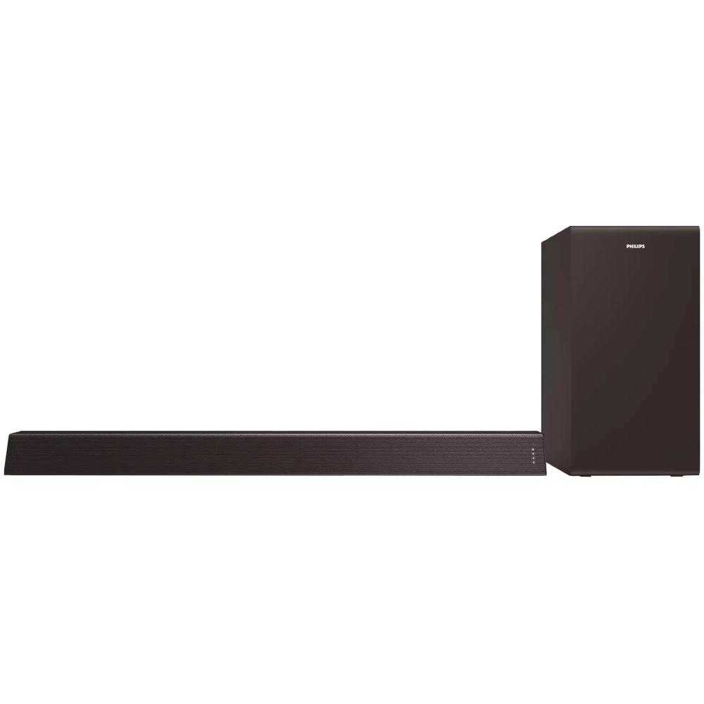Soundbar Philips TAB7305/10, 2.1 ch, 300W, Subwoofer wireless, Dolby Audio, Negru