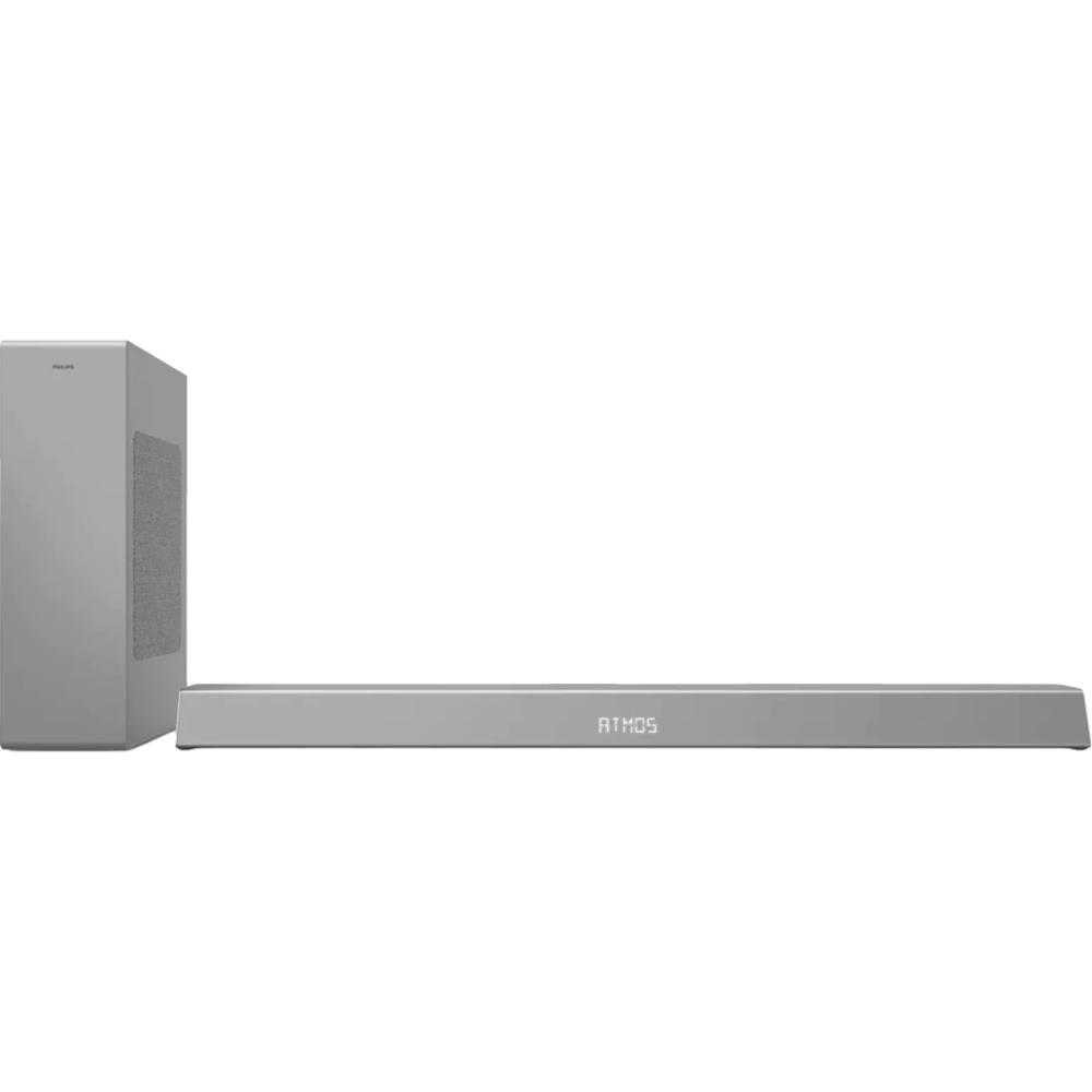 Soundbar Philips TAB8505/10, 2.1, 200W, Subwoofer Wireless, Dolby Atmos, Gri