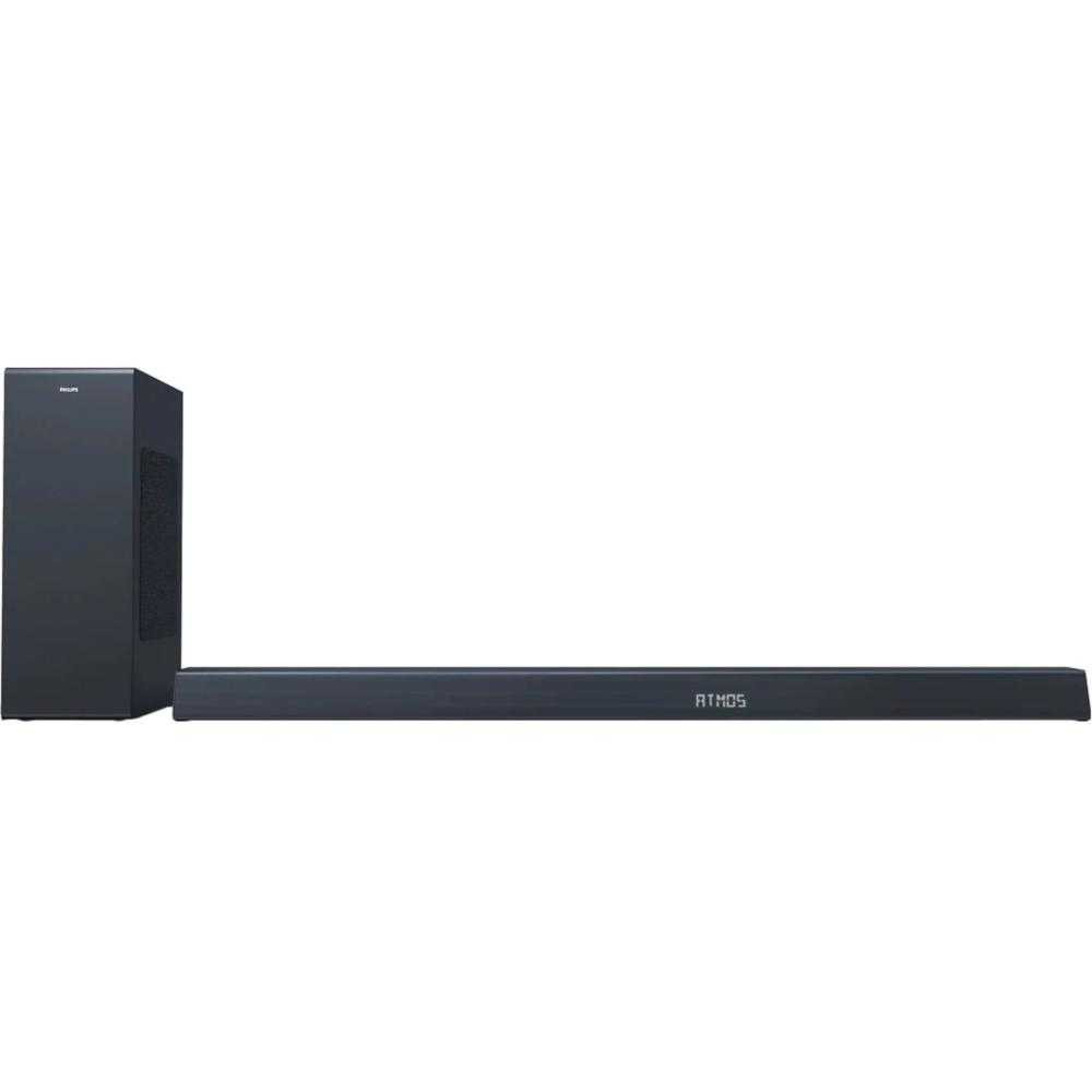 Soundbar Philips TAB8805/10, 3.1, 300W, Subwoofer Wireless, Dolby Atmos, Negru