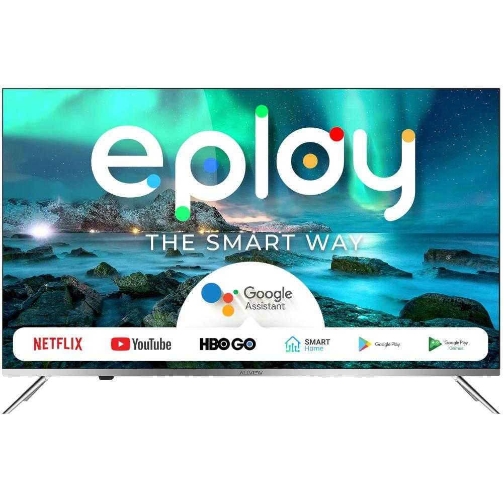 Televizor Smart LED, Allview 50EPLAY6000-U, 125 cm, Ultra HD 4K, Android