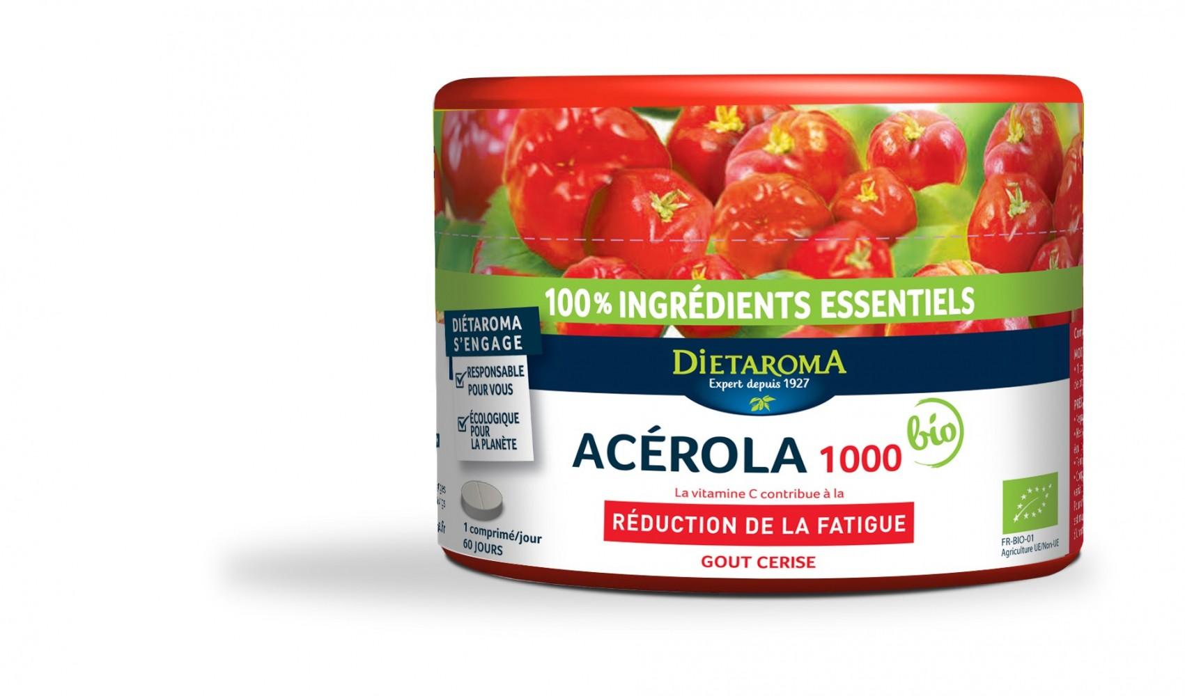Acerola Bio 1000 Mg, 60 cpr Dietaroma