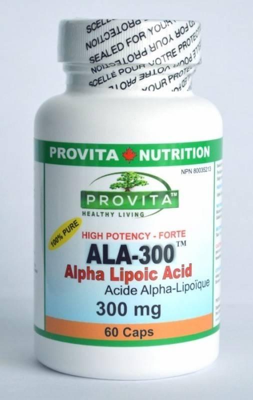 Acid Alpha Lipoic 300MG,60CPS (ALA-300)