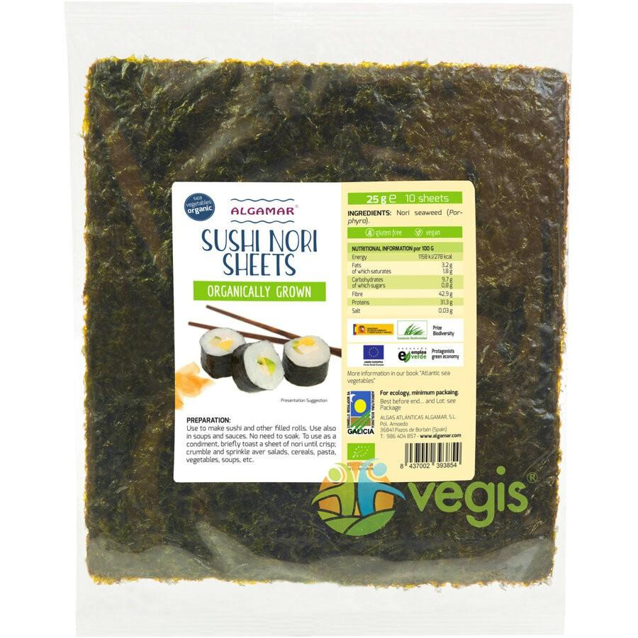 Alge Nori Pentru Sushi 25g - 10 Folii