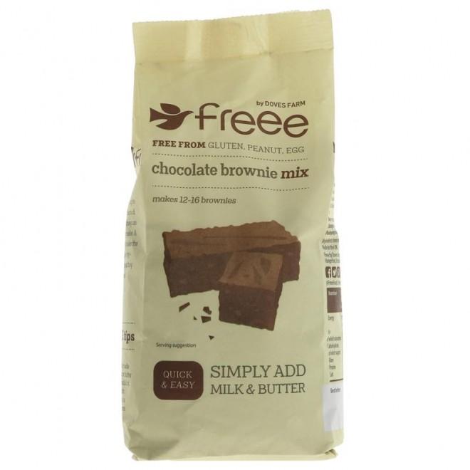 Amestec fara gluten pentru prajitura Brownie cu ciocolata, Doves Farms, 350 g