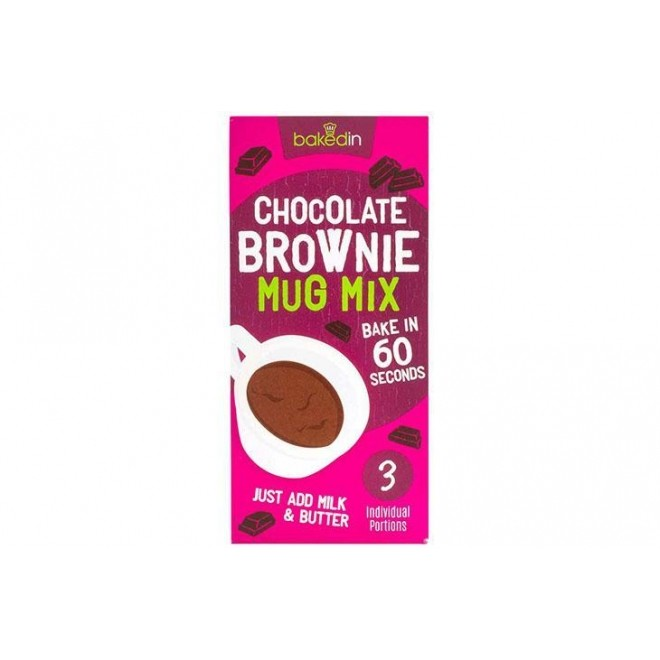 Amestec Mug Cake, Chocolate Brownie, 3 portii x 55 g