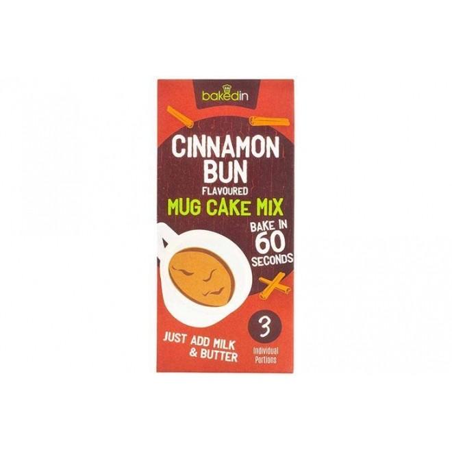 Amestec Mug Cake, Cinnamon Bun, 3 portii x 55 g