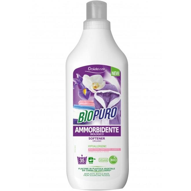 Balsam bio hipoalergen, Biopuro, pentru rufe, cu iris si orhidee, 1 L