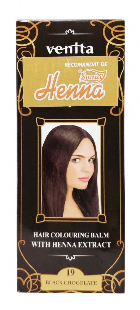 Balsam Colorant Henna Color  Nr 19 Black Chocolate 75ML Venita