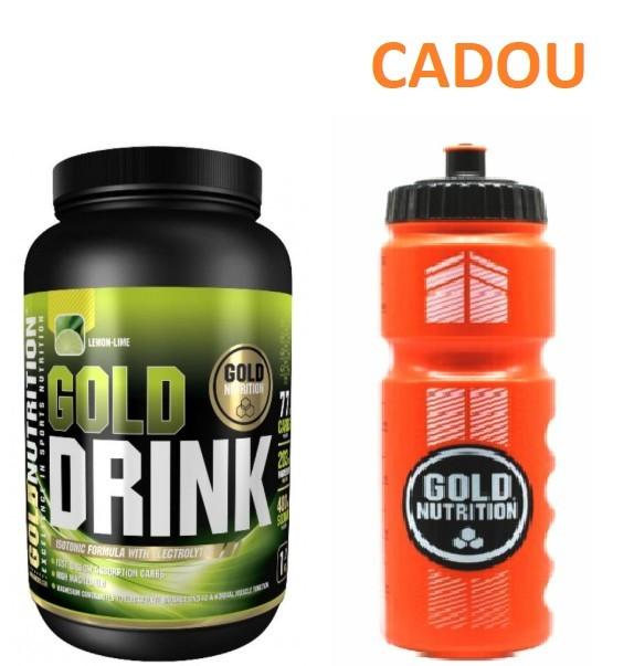 Bautura Energizanta, Hidratanta, Gold Drink 1kg + Recipient Sport, Pentru Apa, 800 ML CADOU