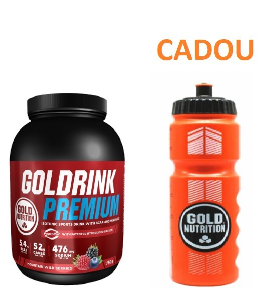 Bautura Hidratanta, Sportivi, Gold Drink 750g + Recipient Sport, Pentru Apa, 800 ML CADOU