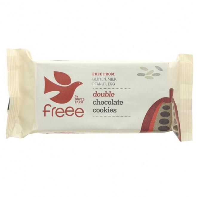 Biscuiti fara gluten cu dubla ciocolata, Doves Farm, 180 g