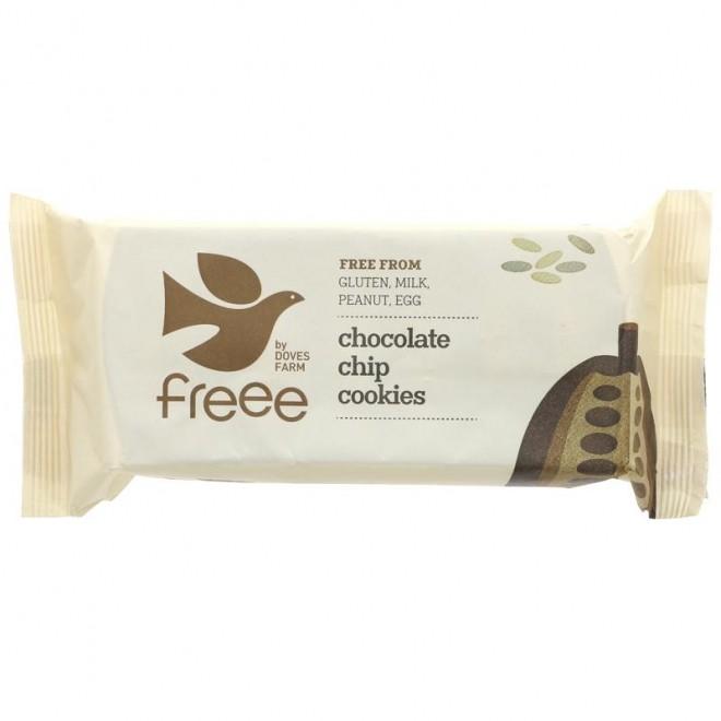 Biscuiti fara gluten cu fulgi de ciocolata, Doves Farm, 180 g