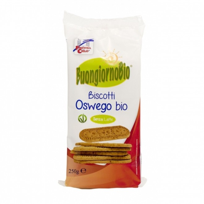 Biscuiti vegani, Buongiorno Bio Oswego, La Finestra sul Cielo, 250 g