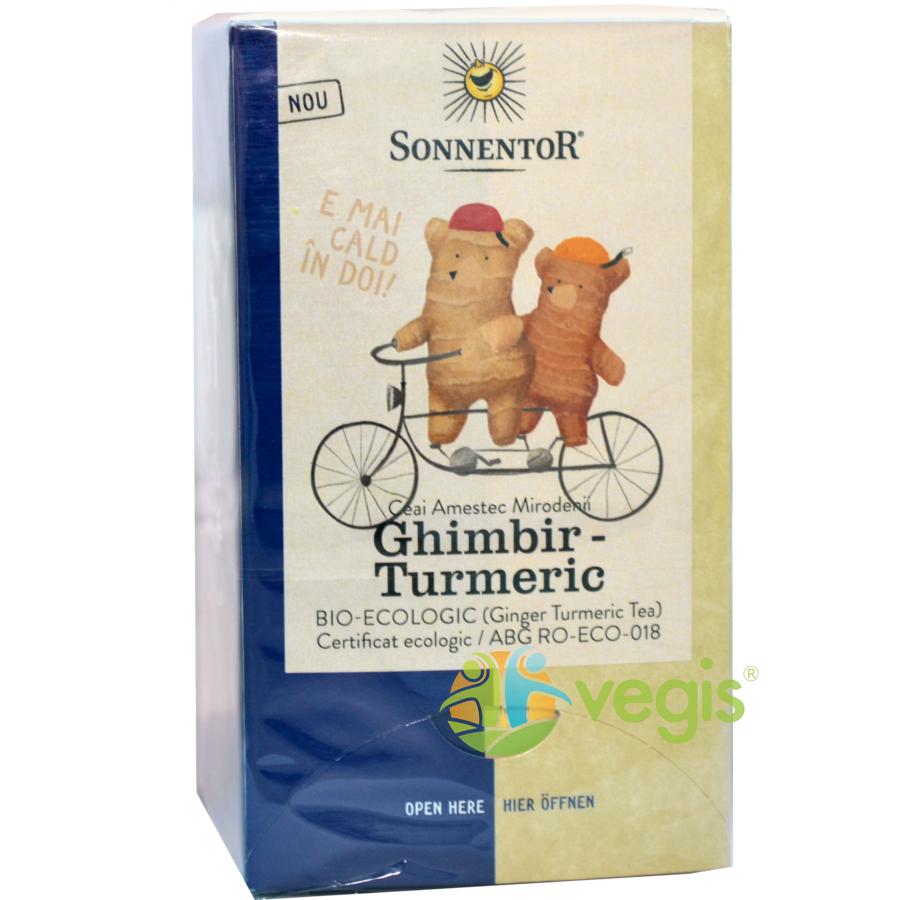 Ceai Ghimbir cu Turmeric Ecologic/Bio 18dz
