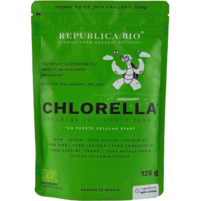 Chlorella pulbere pura bio, Republica Bio, 125 g