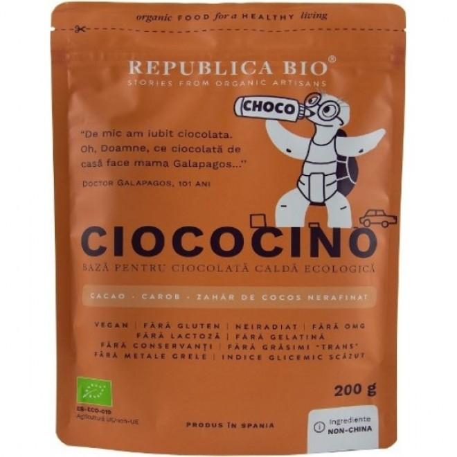 Ciococino baza pentru ciocolata calda bio, Republica Bio, 200 g