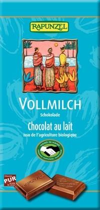 Ciocolata bio din lapte integral, Rapunzel, 100 g