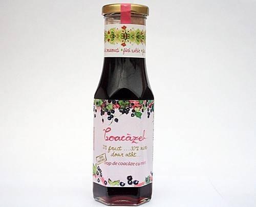 Coacazel - Sirop de Coacaze Negre cu Miere Prisaca Transilvania - 230 ML